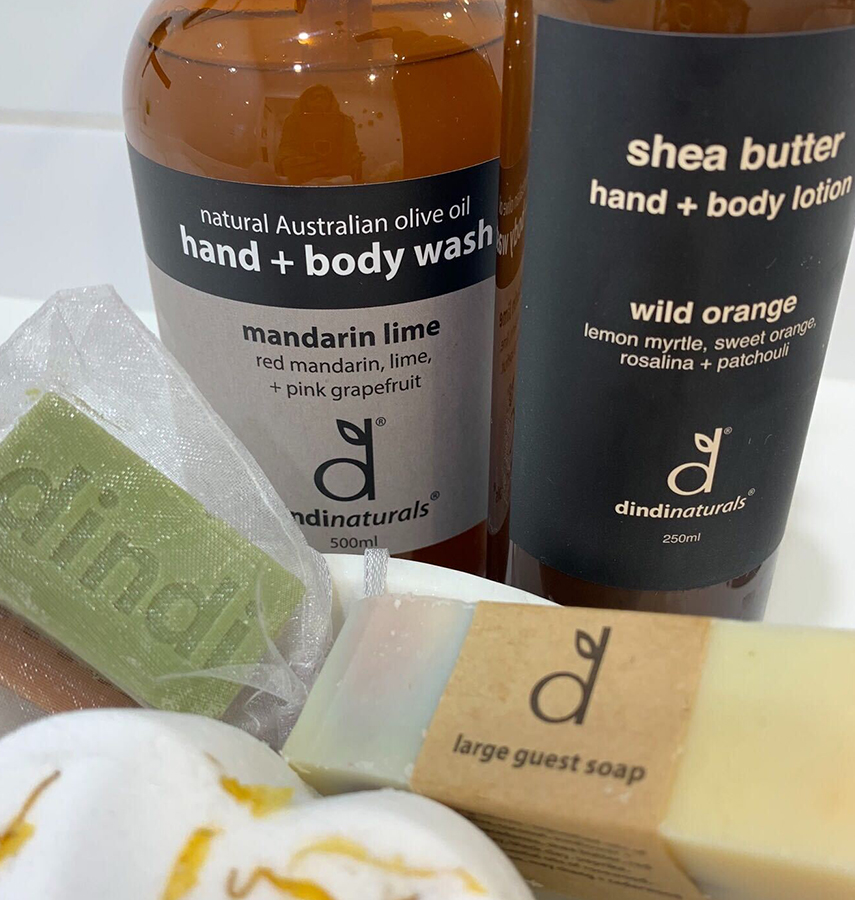 Artisan hand and body products supplied for that extra touch of luxury